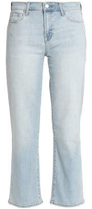 J Brand Cropped Faded Mid-rise Straight-leg Jeans
