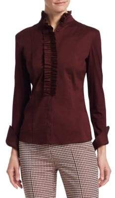 Akris Punto Ruched Front Jersey Blouse