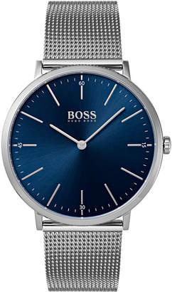 BOSS Hugo Men's Horizon Stainless Steel Mesh Bracelet Watch 40mm
