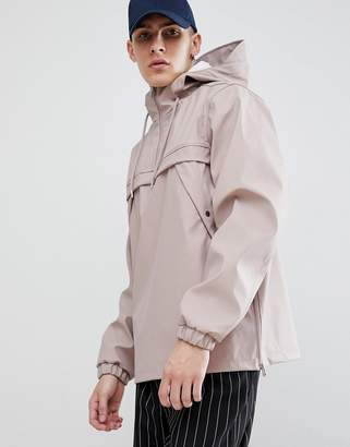 New Look Overhead Rain Jacket In Dusty Pink