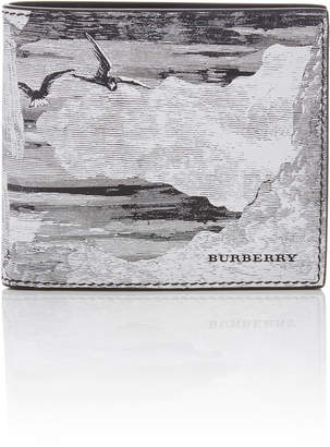 Burberry Printed Textured-Leather Billfold Wallet