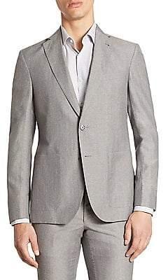 Saks Fifth Avenue Men's MODERN Wool& Linen Suit Jacket
