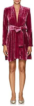 A.L.C. Women's Kiera Velvet Belted Dress - Pink
