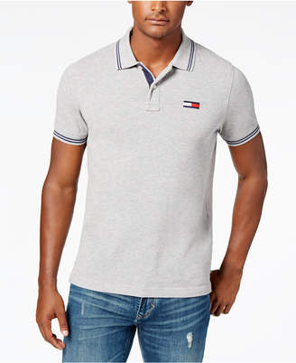 d7c675472 Tommy Hilfiger Gray Fitted Men's Shirts - ShopStyle