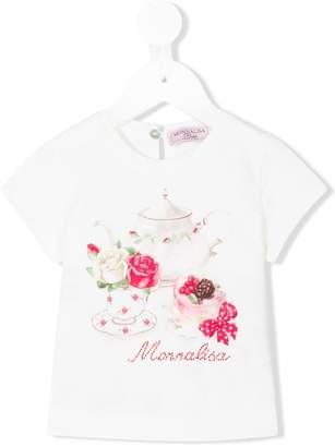 MonnaLisa tea party print T-shirt