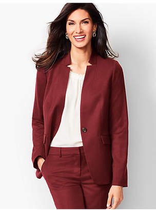 Talbots Luxe Italian Flannel Single-Button Blazer