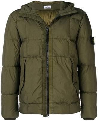 Stone Island zip front padded jacket