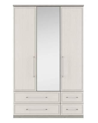 Consort Furniture Limited Sorrento 3 Door 4 Drawer Mirror Wardrobe