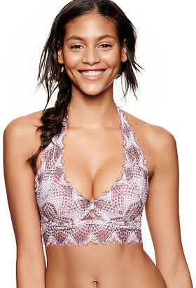 PINK Lace Lightly Lined Halter Bralette $9.99 thestylecure.com