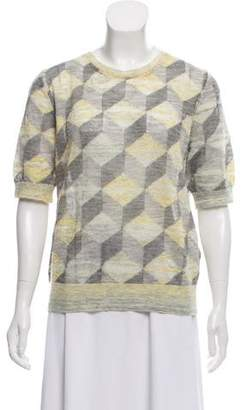Marc Jacobs Short Sleeve Patterned Sweater