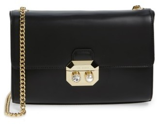 Ted Baker London Leather Crossbody Bag - Black $225 thestylecure.com