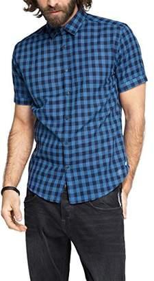 Esprit Men's Gingh Yd Ch Regular Fit Short Sleeve Casual Shirt