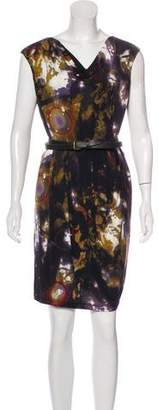 Calvin Klein Belted Mini Printed Dress