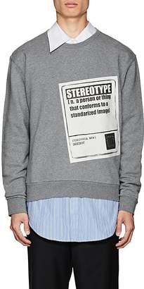 "Maison Margiela Men's ""Stereotype"" Cotton Sweatshirt"