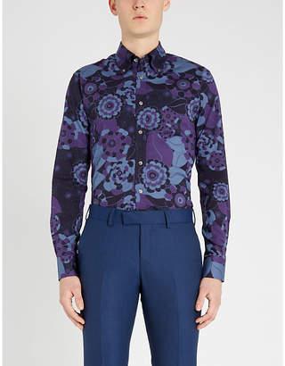 Tiger of Sweden Floral-print slim-fit stretch-cotton shirt