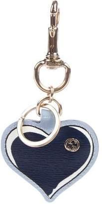 Gucci Leather Heart Keychain
