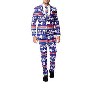 Asstd National Brand Holiday Blue Reindeer OppoSuits 3-pc. Suit- Slim Fit