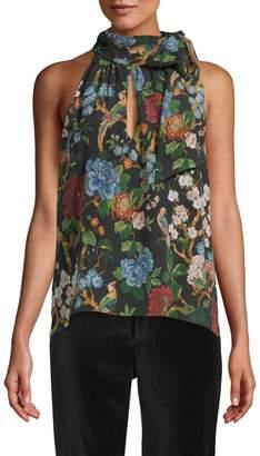 Alice + Olivia Women's Sudie Floral Halter Top