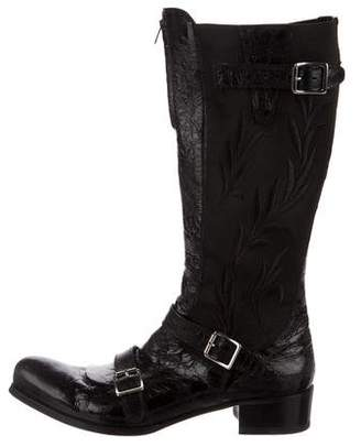 Gianni Barbato Embroidered Leather Boots