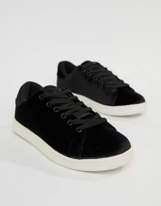 Vero Moda velvet sneakers