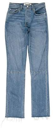 Reformation Mid- Rise Straight- Leg Jeans