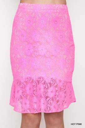 Umgee USA Hot Pink Skirt
