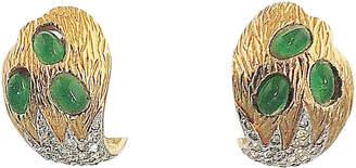 One Kings Lane Vintage 1960s Jomaz Faux-Emerald Earrings
