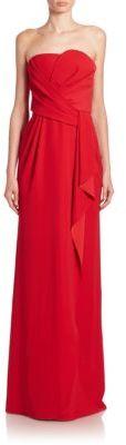 Armani Collezioni Draped Strapless Gown $1,895 thestylecure.com