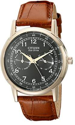 Citizen Men's Eco-Drive Rose-Gold Stainless Steel Watch with Day/Date