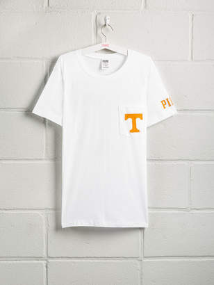PINK University of Tennessee Bling Short Sleeve Campus Pocket Tee