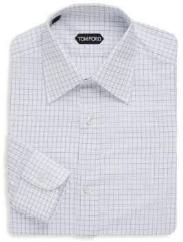 Tom Ford Grid-Print Dress Shirt