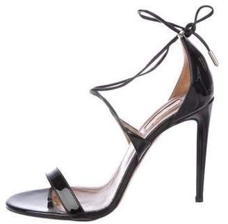 Aquazzura Patent Leather Ankle Strap Sandals