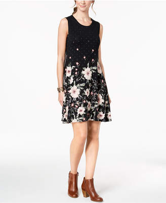 Style&Co. Style & Co Tie-Dyed A-Line Dress, Created for Macy's