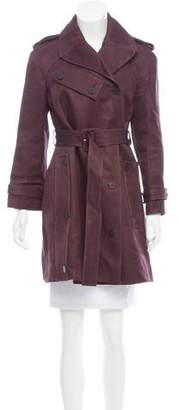 Balenciaga Notch-Collar Belted Coat