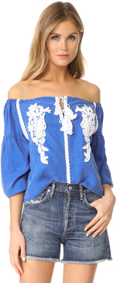 Line & Dot Valor Off Shoulder Top $85 thestylecure.com