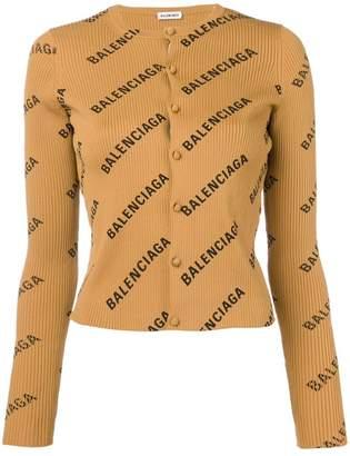 Balenciaga longsleeved logo cardigan