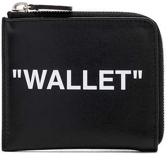 Off-White Off White Quote Coin Purse
