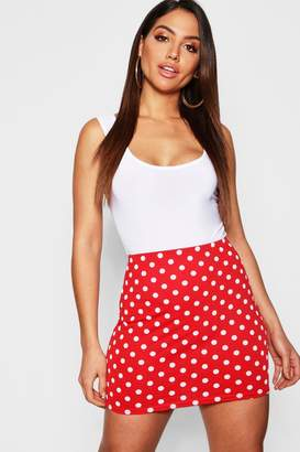 boohoo Polka Dot Mini Skirt