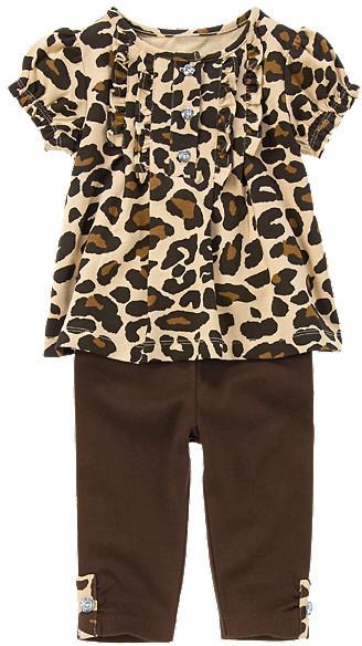 Gymboree Gem Button Leopard Two-Piece Set