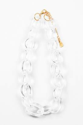 Embellish Lucite Small-Links Necklace