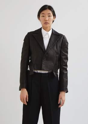 Yohji Yamamoto Leather Out Stitch Jacket