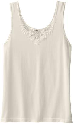 Cuddl Duds Plus Size SofTech Venice Lace-Trim V-Neck Tank