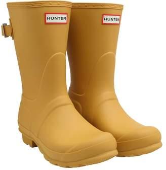 Hunter Womens Back Adjustable Short Wellington Boots Yellow