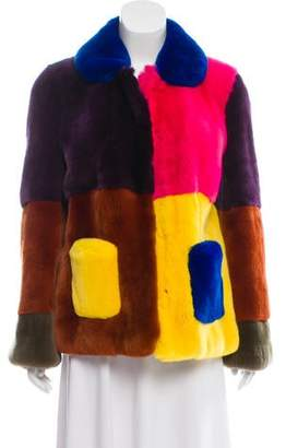 Marni Colorblock Fur Coat w/ Tags