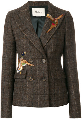 Mulberry bird patch double breasted jacket $1,717 thestylecure.com
