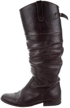 Golden Goose Distressed Knee-High Boots