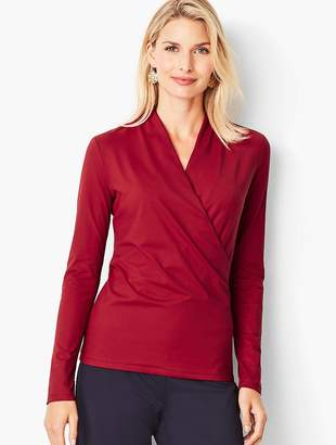 Talbots Knit Jersey Wrapped Top