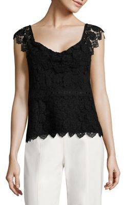Nanette Lepore Flutter Scalloped Trimmed Top $298 thestylecure.com