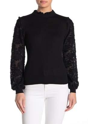14th & Union Woven Mixed Media Sweater (Regular & Petite)