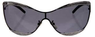 Jean Paul Gaultier Embellished Shield Sunglasses